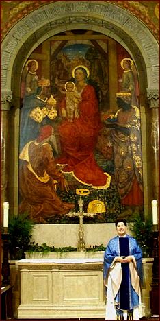 chapel mural with Lynn Sanders