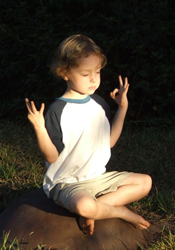 Connor Stallings in Lotus Position -2 - Buddy Stallings' grandchild...