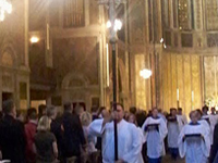 Procession - procession, St. Bart's service